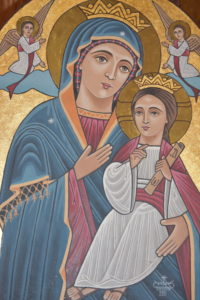 St. Mary Icon at St. Mary Coptic Orthodox Church in Victorville, California USA